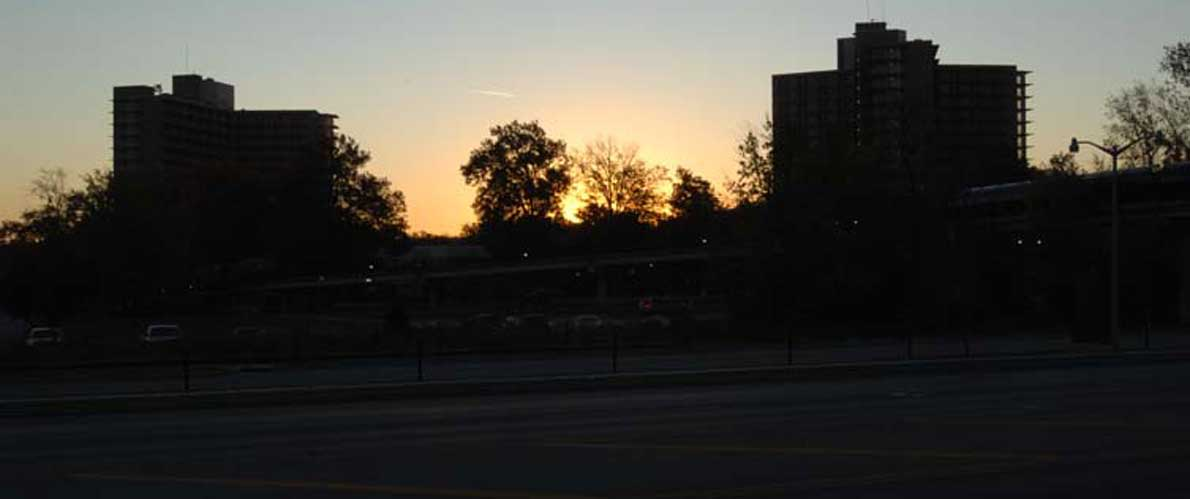 SIU Campus at dusk