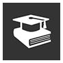graduation cap with book