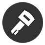 Key icon on a gray background