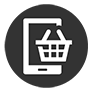shopping basket with tablet