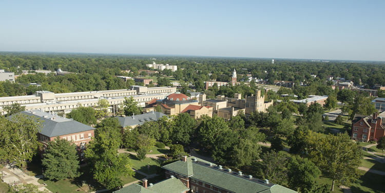 Aerial view of SIUC campus