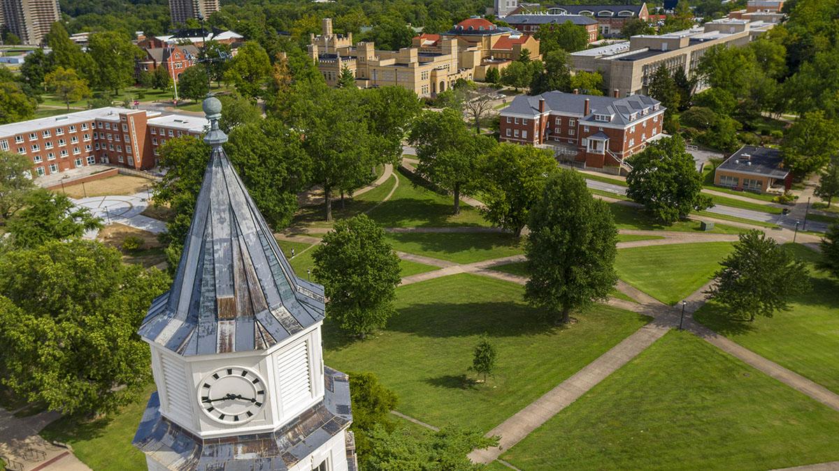 Aerial view of SIU campus